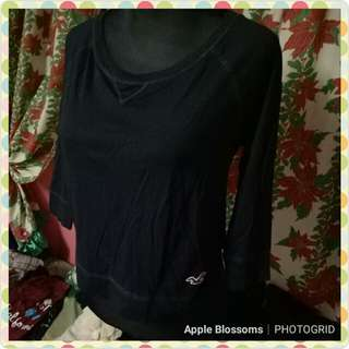 Hollister (Authentic) Crop top 3/4 sleeves