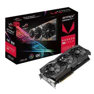 BNIB - ASUS ROG-STRIX-RXVEGA56-O8G-GAMING 8GB OC Edition GRAPHIC CARD