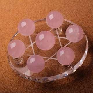 """"""" Lucky crystal ball """" 天光天然粉水晶七星阵"""