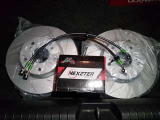 BNIP/BNIB Slotted disc rotor/ 800 degrees Hi temp brake pad