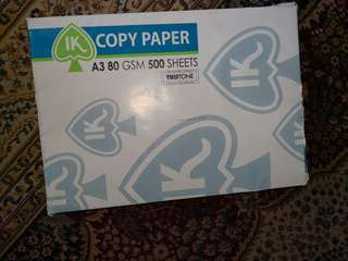 A3 Size plain copy papers