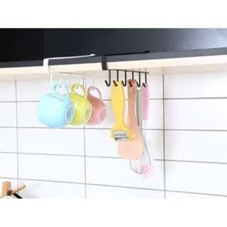 Rak Kait Untuk gantung Cangkir gelas / Kitchen Hook model bar - HPD080