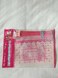 My Melody Ribbon Zipper Bag Medium 拉錬袋 3枚