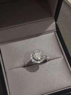 1.5卡鑽石戒指 配石0.54ct