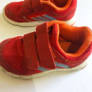 Used Authentic Adidas rubber shoes sneakers for toddlers boys kids