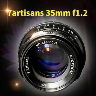 7artisans 35mm f1.2 lenses