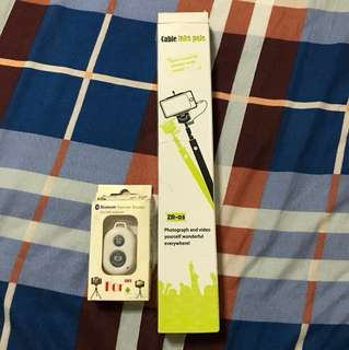 Selfie Stick and Bluetooth remote control
