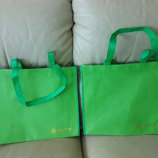 New Recycle Green 34cm x 33cm x 10cm base bag.  1 for $0.80 or 2 for $1
