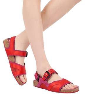 BURBERRY Prorsum Leather $ Silk Satin Sandals
