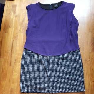 Bega Faux 2-pc Office Dress XL