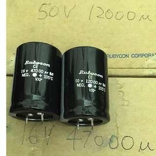 Rubycon 16V-47000µ (Aluminum Electrolytic Capacitor)