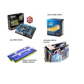 i5 2500K / P8P67PRO / HyperX 8GB / 4850 x2 / FOC WD 500GB