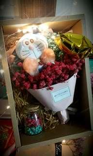 ($45.90) LED-Graduation Hat Doremon Bouquet