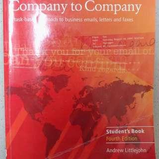 Company to company 商用英文