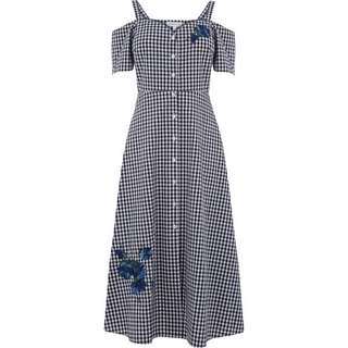 The Warehouse Gingham Floral Dress