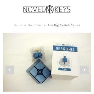 Novelkeys Big Switch - Blue Clicky