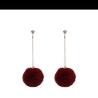pom pom earring