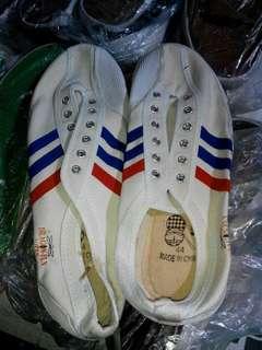 Sepatu capung stripe 3 merah biru
