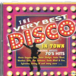 MY PRELOVED CD -   THE VERY BEST DISCO IN TOWN - ORIGINAL ARTISTS 70's HITS /FREE DELIVERY (F7F))
