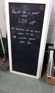 Used chalkboard