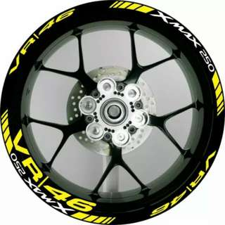 Custom xmax wheel stickers