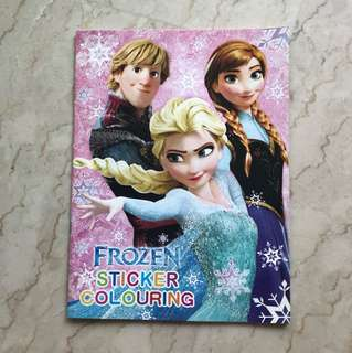 Frozen Sticker Colouring Book