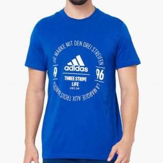 Adidas logo tee blue (original)