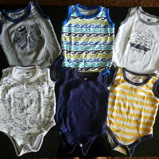 LUVABLE FRIENDS 3-6m Baby Rompers