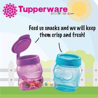 TUPPERWARE Kids Snack Cup DINO [Purple] + PENGUIN [Mint Blue] 350ml Children's day gift school
