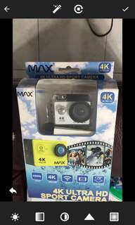 MAX 4K ULTRA HD SPPORT. CAMERA