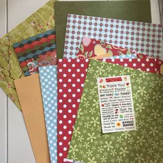 Craft papers - 10pcs