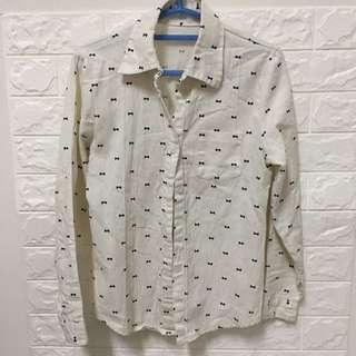 小蝴蝶結白襯衫