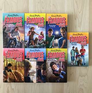 Enid Blyton: The Famous Five Series - Book 8/10/12/14/15/20/22): Five Get Into Trouble / Five On A Hike Together / Five Go Down To The Sea / Five Have Plenty Of Fun / Five Go To Billycock Hill / Five Have A Mystery To Solve / Short Story Collection