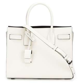 YSL Saint Laurent White Baby Sac de Jour Tote Bag (90% new)