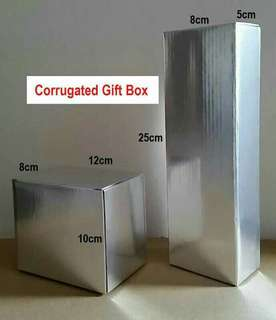 Gifts Box - Corrugated Silver box