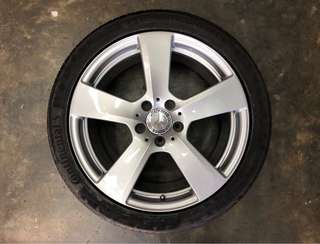 "18"" Original Mercedes Rim & New Continental Tyre"