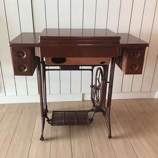 Antique Vintage Wooden Sewing Machine Base
