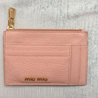 Miu Miu leather card holder