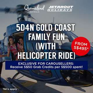 5D4N Gold Coast Family Fun (with Helicopter Ride)
