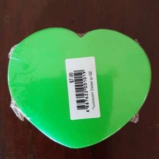 Fluorescent Sticker (Heart-shaped)