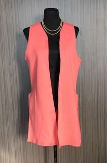 Salmon Pink Long Cover Up