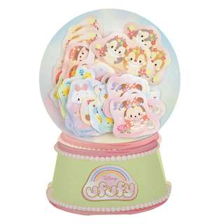 Japan Disneystore Disney Store Disney Ufufy Mickey & Friends Snow Globe Egg Seal Sticker
