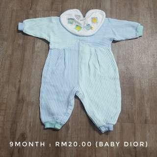 Baby Dior  Sleepsuit