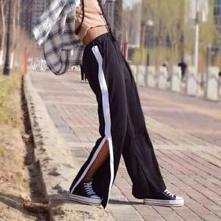 Rm26😋Korean style Ulzzang side zip Pant #HOT80