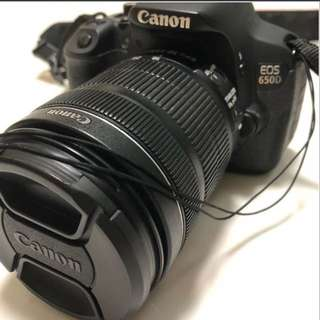 Canon 650D with 18-135mm lens