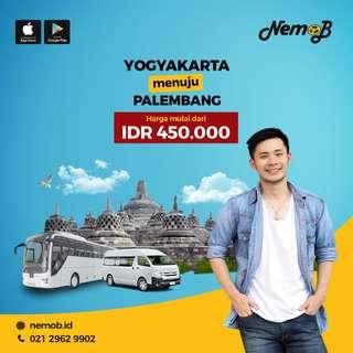 Tiket bus murah rute Jogja - Palembang dan sebaliknya, hanya 450 ribu.