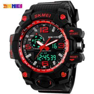 SKMEI AD1155 RED WITH SILICON STRAP WATCH FOR MEN - COD FREE SHIPPING