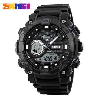SKMEI AD1228 BLACK RUBBER STRAP WATCH FOR MEN - COD FREE SHIPPING