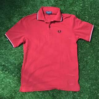 Fred Perry Red Polo Shirt