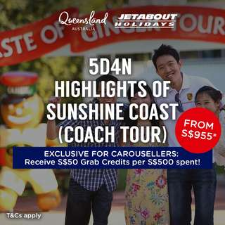 5D4N Highlights of Sunshine Coast (Coach Tour)